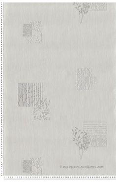Motifs branche blanc - papier peint AS Création