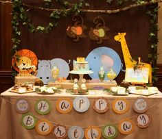 Festa safári para os bebês