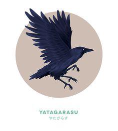 Watercolor Painting, Original Painting, Crow in Flight ...