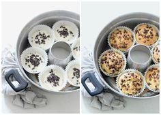 muffin ricotta e gocce di cioccolata nella pentola fornetto versilia | . Ricotta, Muffins, Oatmeal, Food And Drink, Sweets, Dessert, Breakfast, Yogurt, Cakes