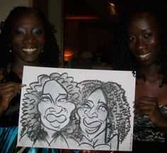 On the spot caricature