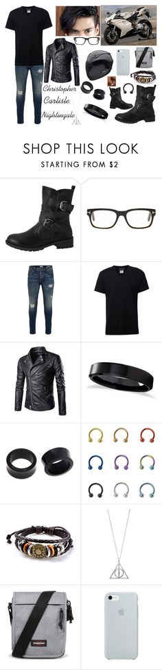 """""""Christopher"""" by beth-black ❤ liked on Polyvore featuring Tom Ford, Only & Sons, Neil Barrett, Allurez, NOVICA, Eastpak, men's fashion and menswear"""