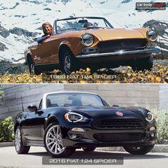 1969-2016 Fiat 124 Spider-Design Comparison