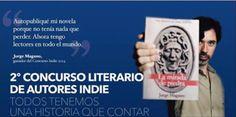 """Solo hasta finales de este mes puedes participar en el segundo concurso de escritores """"indie"""" organizado por Amazon.es El Mundo y La esfera de los libros Más info aquí http://www.elmundo.es/promociones/2015/04/amazon/… En la imagen, el ganador del año pasado, Jorge Magano, con su novela """"La mirada de piedra""""."""