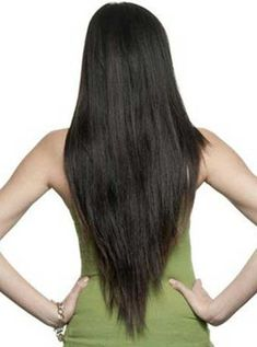 nice V Shaped Haircut With Layers Back View
