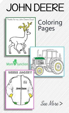 john deere christmas coloring pages - photo#22