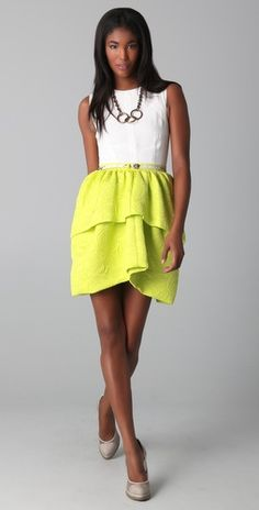 camilla & marc lime+white dress