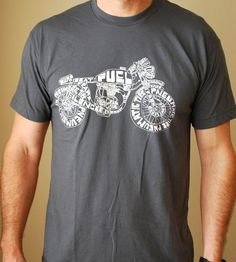 Typocycle Men's T-Shirt | Ready for adventuring (or, just grocery shopping) this comfy t... | T-Shirts