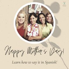 This video will teach you the correct pronunciation and you can now say: Happy Mother's Day! in Spanish. Spanish Mothers Day, Happy Mothers Day, Free Spanish Lessons, Multicultural Classroom, Polaroid Film, Teaching, Education, Sayings, Children