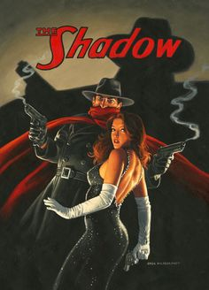 The Shadow and Margo Lane, Greg Hildebrandt Golden Age, Comic Art, Wonder Woman, Superhero, Movie Posters, Gaming, Facebook, Videogames, Film Poster