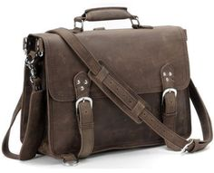 #Handcrafted Full Grain #Leather #Briefcase Selvaggio