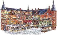 House Cutaway Illustration | Cutaway Drawing (Doorkijk-illustratie). Doorsnede van de commerciele ...