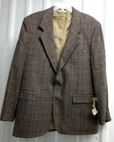 NWT Vintage Men's Levi Strauss Levi's 100% Wool Sports Coat Sz 40 Regular Blazer