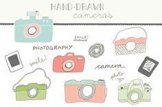 Handdrawn Cameras ~ Illustrations on Creative Market