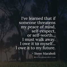 you owe it to yourself - Steve Maraboli