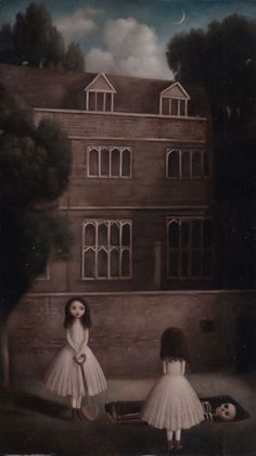 Stephen Mackey (British, b. England) - Under the Orchard, Paintings: Oil on Board Creepy Art, Weird Art, Arte Horror, Horror Art, Dark Art Illustrations, Illustration Art, Fashion Illustrations, Art Folder, Lowbrow Art