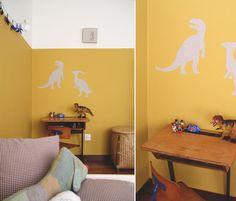 rainbowsandunicornscrafts: DIY Removable Iron On Fabric Wall Sticker Tutorial from Bloesem Kids here.