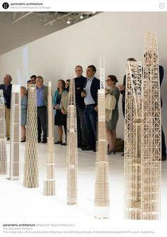 Arquitectura. Maquetas. Rascacielos
