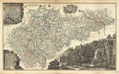 'Carte von Ertzgebürgischen Creysse in   Churfurstenthum Sachssen' by Peter Schenk, 1758