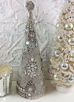 Ms Bingles Vintage Christmas: Rhinestone Mermaid, Rhinestone Santa, Rhinestone Tree, Oh my! Shabby Chic Christmas, Silver Christmas, Christmas Jewelry, Christmas Art, Vintage Christmas, Christmas Mantles, Christmas Ornaments, Victorian Christmas, Christmas Lights