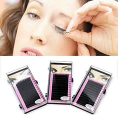 Makeup Individual False Eyelashes Thick Curl Eye Lash Extensions 81012mm8mm * See this great product.