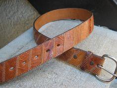 Men's Vintage Used Acme Genuine Lizard Belt by VintageClassicWares, $25.00
