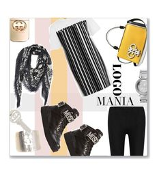 """""""Say My Name !!!"""" by jckallan ❤ liked on Polyvore featuring Alexander Wang, Chanel, Donna Karan, Moschino, Emilio Pucci, Gucci and logomania"""