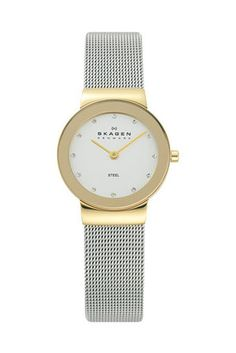 Skagen Denmark Watch, Women's Stainless Steel Mesh Bracelet - All Watches - Jewelry & Watches - Macy's Stainless Steel Mesh, Stainless Steel Bracelet, Mesh Bracelet, Bracelet Watch, Skagen Watches, Mesh Band, Quartz Watch, Fashion Watches, Lady