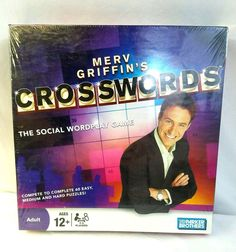 Merv Griffin's Crosswords Social Wordplay Game Parker Brothers New Sealed #Hasbro