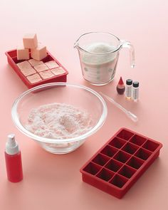 Drop these homemade bath fizzies into the water for a relaxing time in the tub.  Source: Martha Stewart