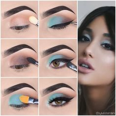 Here we have compiled simple eye makeup tips pictures. They can help you become an eye makeup expert. Here we have compiled simple eye makeup tips pictures. They can help you become an eye makeup expert. Simple Makeup Looks, Simple Eye Makeup, Simple Party Makeup, Makeup Eyeshadow, Eyeshadow Palette, Drugstore Makeup, Makeup Palette, Yellow Eyeshadow, Make Up Tutorial