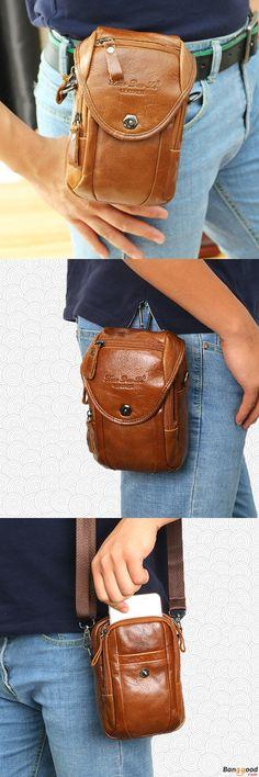 US$32.99 + Free shipping. Multifunction Waist Bag, Fashion Waist Bag, Men Leather Bag, Belt Phone Bag, Waist Bag, Single Shoulder bag, Crossbody Bag. Color: Khaki, Dark Coffee, Dark Brown, Retro, Red Brown. Shop Now for it.