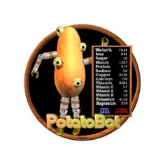 Valxart's PotatoBot is one of many funny FUDEBOTS by Valxart.com that remind us to know what we eat and eat healthy . We are what we eat !   For Nutritional data for foods you eat, see  USDA Nutritional info   www.cnpp.usda.gov/Resources.htm