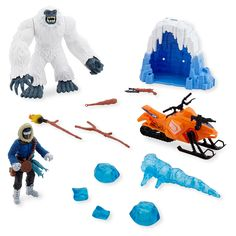 The Animal Planet Yeti Play Set includes:<br><ul><li>Yeti with mechanical action</li><br><li>Ice Cave</li><br><li>Snow Mobile</li><br><li>Articulated Action Figure</li><br><li>Ice</li><br><li>Accessories</li></ul><br><br><br>Toys'R'Us is the home for <b>Animal Planet</b> toys, puzzles and animal themed playsets that you won't find anywhere else. Remote control T-Rex dinosaurs and creepy crawling tarantula, dino and safari play tents, plush stuffed animals and jumbo T-Rex foam dinos all in…