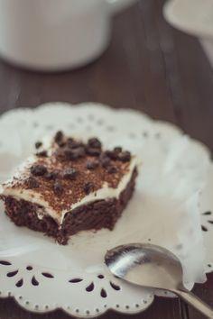 Tiramisú de Brownie con trocitos de Oreo