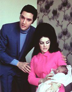 Elvis Priscilla and Lisa Marie