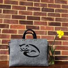 Macbook 15 Bag with Long Handle Kitty Handbag by LagasheOfficial