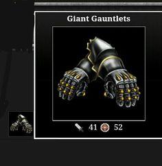 Realm? Adventure drop weapon (Giant  glove 41A - 52D)