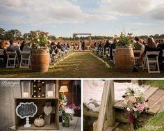 Family Farm Barn Wedding with Harvest Ceremonial Backdrop