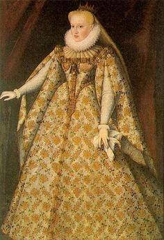 Portrait de Marie Christine d'Autriche, dans sa robe de mariée, 1595 attribué à Ottavio Zanuoli