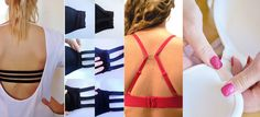 Los mejores trucos para usar tu brasier | Mujer de 10 Sewing Hacks, Formal Dresses, Beauty, Fashion, Sink Tops, Tricot, Outfits, Fix A Bra, Bra Hacks
