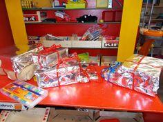 Pakjes in de winkel