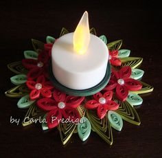 Christmas candle holder