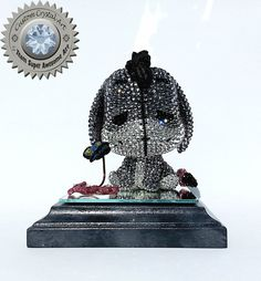 Custom Funko Pop Crystal Eeyore Figure by TeamSuperAwesomeArt on Etsy
