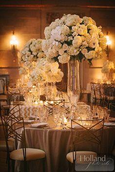 photo: Holland Photo Arts; wedding centerpiece idea; Sparkling Washington, DC Wedding from EVOKE -