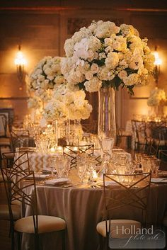 photo: Holland Photo Arts; wedding centerpiece idea; Sparkling Washington, DC Wedding from EVOKE -