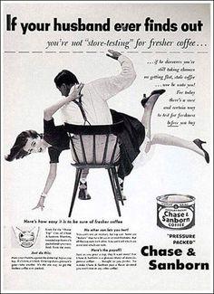 Publicidad Vintage que hoy en día estaría prohibida. Uffff sin comentarios. Hoy no.  (vía marketingdirecto.com)