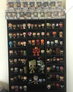 Cannot wait to see Infinity War tomorrow! Heres an update of my Marvel (and other movie) collection Funko Pop Shelves, Funko Pop Display, Nerd Room, Gamer Room, Funko Pop Avengers, Marvel Avengers, Funko Pop Figures, Vinyl Figures, Marvel Room