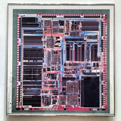 "Intel Corporation | diagram: Intel486™ microprocessor chip | computer-generated plot on paper | 42-1/4"" x 44-1/4"" 