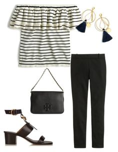 """Untitled #841"" by caseylovesjcrew ❤ liked on Polyvore featuring Chloé, J.Crew and Tory Burch"